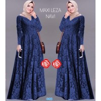 Maxi Leza Navy/gamis wanita/casual baju muslim/longdress cewe murah