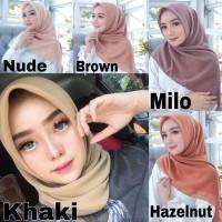 kerudung segi empat polos bella square / hijab segi empat polos