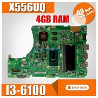HOT! With 4GB RAM I3-6100 CPU X556UQ mainboard For ASUS X556UV X556