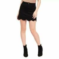 Rok mini anak remaja milenial cewek seksi sexy atas lutut jeans korea