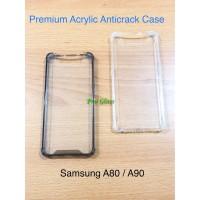 Samsung A80 A90 Anticrack / Anti Crack / ACRYLIC Case Silicone Premium