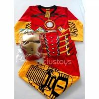 Baju Tidur Panjang Karakter Robot Ironman Anak Laki Laki