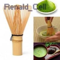 Kuas Pengaduk Matcha Green Tea Bamboo Whisk Brush 64 Brown