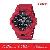 Casio G-Shock Jam Tangan Digital Analog Pria GA-700-4ADR Red Original