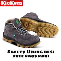 Best seller!! Sepatu safety boot kickers kulit asli (kerja proyek)