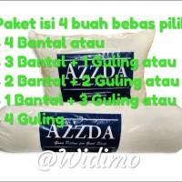 PROMO Paket isi 4 - Bantal & Guling AZZDA isi full Silikon Dacron