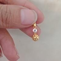 liontin kalung emas asli kadar 700 70% 18k 22 surabaya 0,5gram love