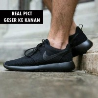 Nike Roshe Two Sepatu Sekolah Sepatu Kantor Hitam Polos Sepatu Full Bl