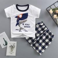 Setelan Kaos T-Shirt Korea Anak Laki-laki Lengan Pendek Gambar Hewan
