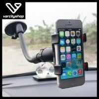 Pegangan HP Jepit Tempel Kaca Mobil - Car Phone GPS Holder Organizer