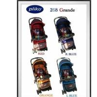Pliko PK268 Grande 3 Posisi Hadap Depan Belakang Baby Stroller Kereta