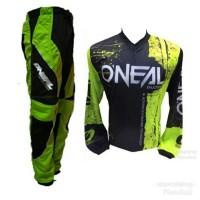 Setelan Baju dan Celana Sepeda Trail Gunung Hijau Oneal JTO-12