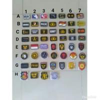 Patch rubber emblem pvc perekat velcro untu baju, topi, tas tactical