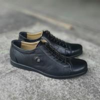 Sepatu kerja pria Kulit asli Bally Low/pendek boots 201 Hitam