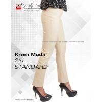 Celana ZETHA Size 2XL Warna Krem Muda Model Standard