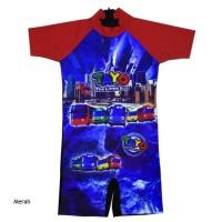 Baju Renang Anak Usia 6-11 Th Karakter Tayo BRDL-SDK082 - Merah