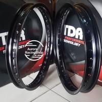 Velg - Rim TDR W Shape Ring 17 x 160 / 185 warna Black