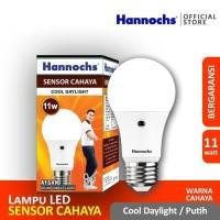 Hannochs Light Sensor 11 watt Bola Lampu Bohlam LED Sensor Cahaya