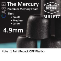 Dekoni Audio Bulletz THE MERCURY Premium Memory Foam Earphone Tips - SMALL, 1 PAIR
