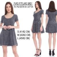 SALE Baju Branded Wanita Dress Merk FOREVER 21, wrn Grey