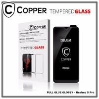 Realme 5 Pro - COPPER Tempered Glass Full Glue PREMIUM Glossy