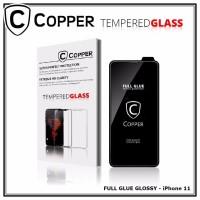 Iphone 11 - COPPER Tempered Glass Full Glue PREMIUM Glossy