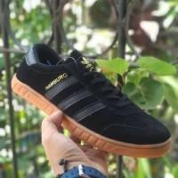 Sepatu Adidas Hamburg Black Gum Premium Quality