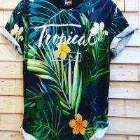 Pakaian Pria Dewasa Baju Kaos Import Murah Meriah Tropical Tshirt