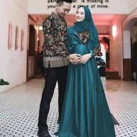 Baju Couple Muslimah/Baju Pasangan Muslim Nizha/Gamis Bumil