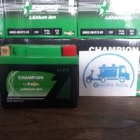 Aki Motor Yamaha Vixion Accu Lithium Ion Champion Haij Trandy New