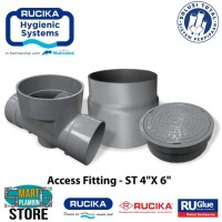Rucika Access Fitting (Straight 4x6) - Bak Kontrol PVC