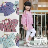 Sabrina Terompet Top 4-7 tahun Blouse Baju Tunik Atasan Anak Perempuan
