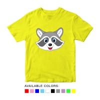 Baju Kaos Anak Gambar Rakun, Baju Karakter Hewan Umur 1 - 10 Tahun