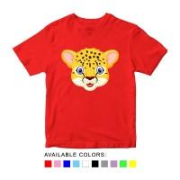 Kaos Anak Gambar Kepala Macan, Baju Karakter Hewan Umur 1 - 10 Tahun