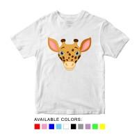 Baju Kaos Anak Gambar Jerapah, Baju Karakter Hewan Umur 1 - 10 Tahun