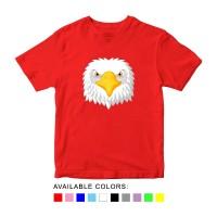Baju Kaos Anak Gambar Elang, Baju Karakter Hewan Umur 1 - 10 Tahun