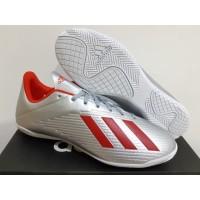 Sepatu Futsal Adidas X 19.4 Silver Metallic Red