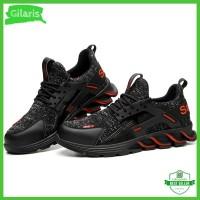 Sepatu safety model sneakers safety boots pria terbaik asli ringan