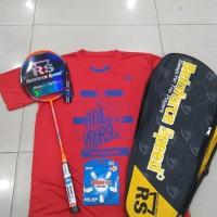 RAKET Badminton RS metric Power 15 komplit tas senar kaos ori