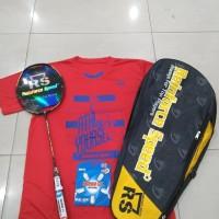 Raket Badminton RS POWER METRIC 16 KOMPLIT SATU SET TAS SENAR KAOS ORI