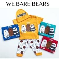 We Bare Bears Suit / Setelan Anak Bayi Lucu Murah / Baju Kaos Bayi