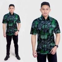 Baju Kemeja Batik Pria Lengan Pendek Fashion Modern M-L-XL