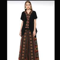 setelan ethnic celana kulot atasan blouse kain tenun jepara blanket