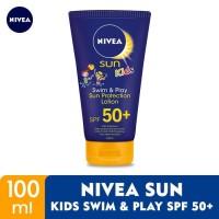 NIVEA Sunblock / Sun Cream Kids Swim & Play SPF 50+ 100ml Anak