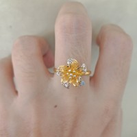 Cincin emas asli kadar 700 70% 18k 22 bunga kendari
