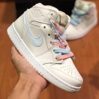 Sepatu Nike Air Jordan 1 Retro Hi Premium Pink Blue Women