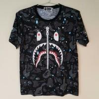 kaos baju Bape Shark Space Camo Glow In The Dark ORIGINAL