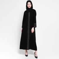 Baju Gamis Abaya Arab Hitam / Gamis Abaya Turkey / Gamis Abaya Bordir