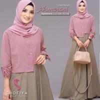 ASMARANI DRESS Baju Hijab Panjang Simple Gaun Kerja Gamis Muslimah Top