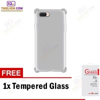 Case Anti Crack Softcase Oppo A3s - Free Tempered Glass